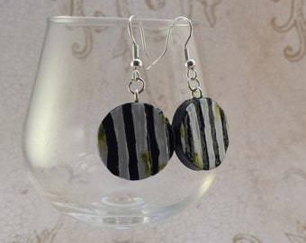 Beetlejuice Suit Earrings