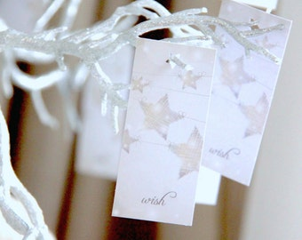Wish Tags, Wedding Wish Cards, Wish Tree Cards, Wedding Favor Tags - SET of 15 tags