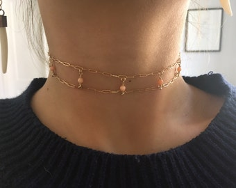 14k gold filled necklace, 14k gold filled choker, gold filled necklace, gold filled choker, gold choker, choker necklace