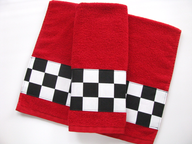Red black bath towels bathroom towel bath towel hand towel for Bathroom towels