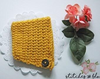 Mustard Yellow Crochet Baby Bonnet