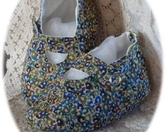 Baby Shoes 'Liberty Tana Lawn' *Sweet Cherries*