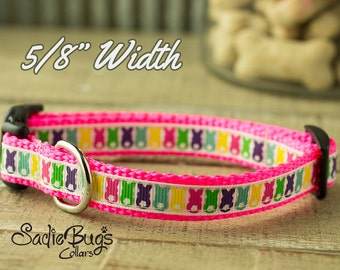 Easter Bunny dog collar - Small and Extra Small