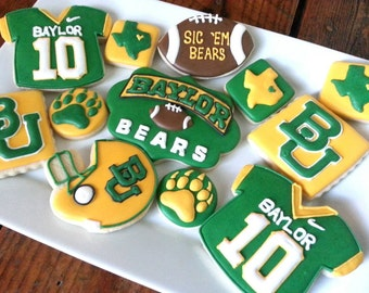 Baylor Bears Decorated Sugar Cookies