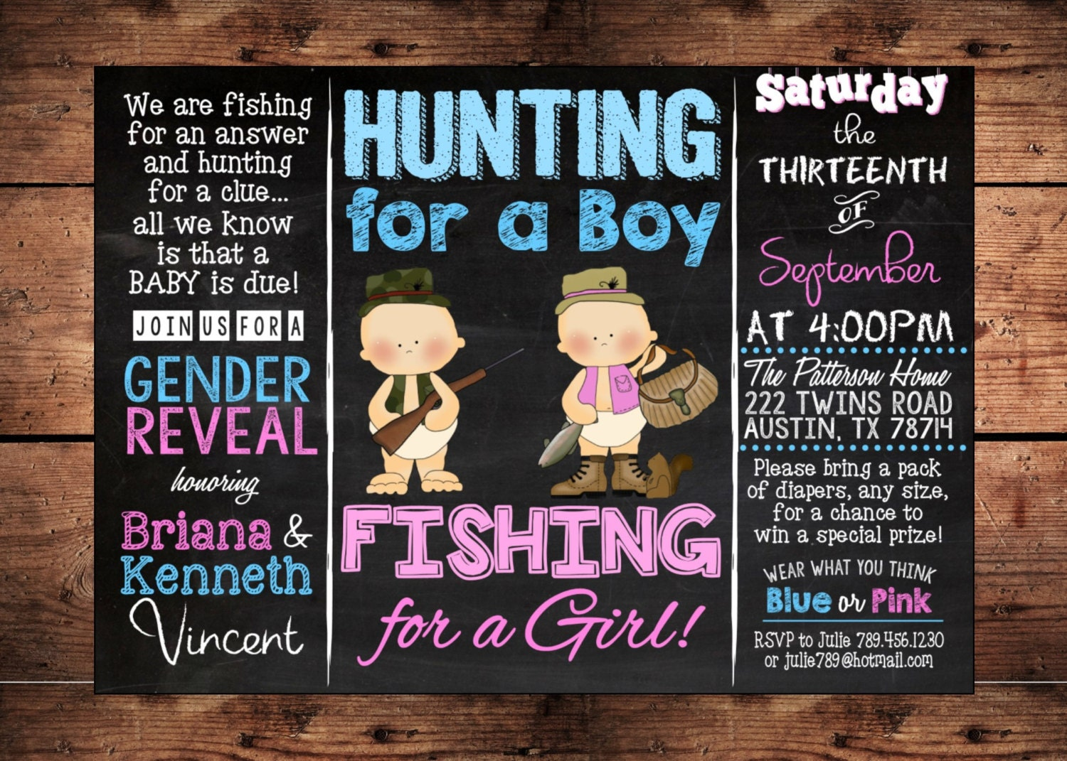 The original hunting for a boy fishing for a girl gender for Fishing gender reveal ideas
