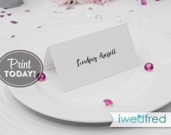 Wedding Place Cards, Wedding Place Card Instant Download, Wedding Place Card Printable Template - Instant Download, PDF, Kraft, #WED103