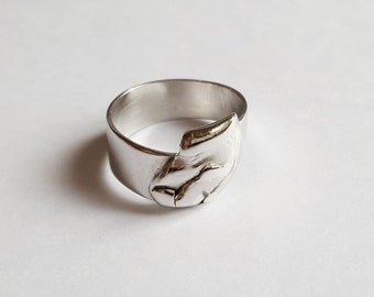 Silver ring sculpture