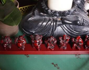 Vintage, Set of Seven Miniature Buddhas