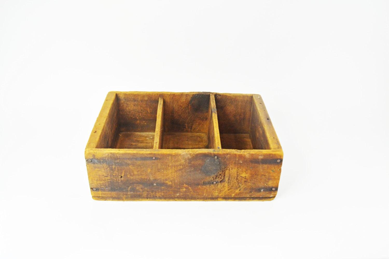 Rustic wooden box handmade small primitive box rustic - Small rustic wooden boxes ...