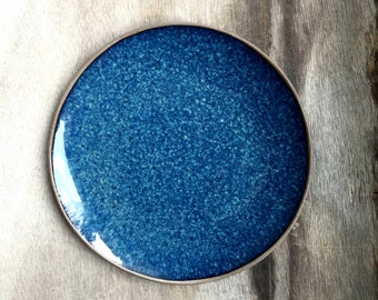 blue ceramic plates set of 4 handmade stoneware plates