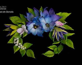 Learn how to make Silk Clematis flowers - Video tutorial