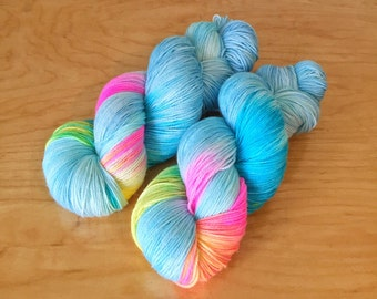 """Hand-Dyed """"Above the Clouds"""" Sock Yarn"""