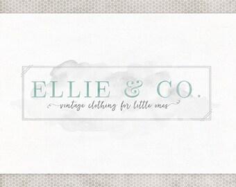 Premade Logo Design | Photography Logo | Business Branding | Blog Logo Design | Wedding Logo Design | Watercolor Logo | Mint and Gray