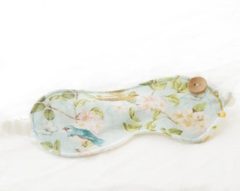 In the Conservatory ~ Sleep Mask ~ Face Mask Accessories Travel Eye Mask Cotton Sleep Mask Satin Sleep Mask Facemark Bird Cage
