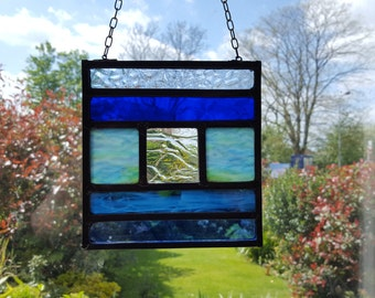 Stained glass panel - 'Water'