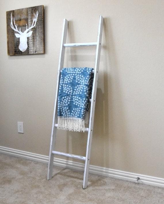 Blanket Ladder Rustic Vintage Ladder By EdnaFayeCreations