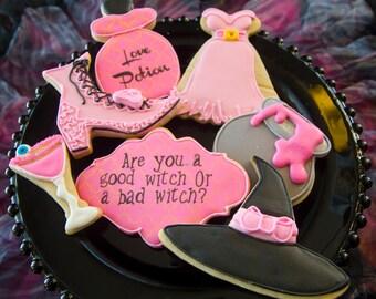 One dozen good witch cookies