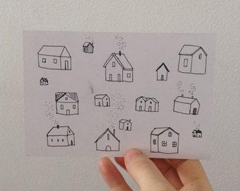 Little Houses Postcard set