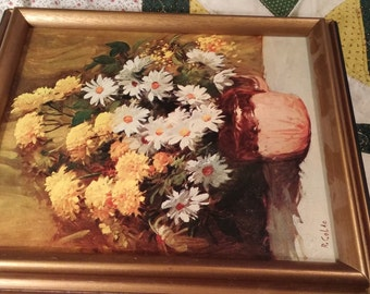 Painting by R Colao sold by Sears Roebuck. Floral. Daisies/Marigolds