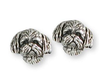 Shih Tzu Earrings Handmade Silver Shih Tzu Jewelry SZ21H-E