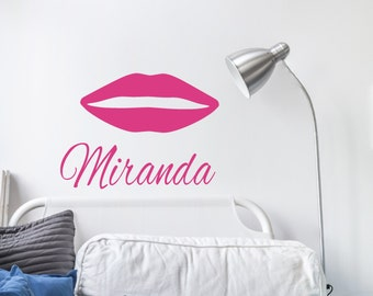 Lips Wall Decal Etsy - Custom vinyl wall decals canada   how to remove