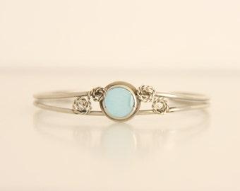 Vintage silver turquoise bracelet