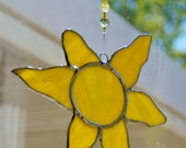 Sun/Star Shape in Choice of Colors Ready to Hang Stained Glass Suncatcher Home Decor Window and Garden