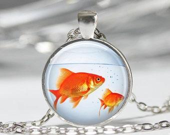 picure pendant necklace fish kawaii