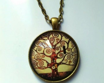 tree of life necklace picture pendant necklace charms