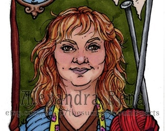 Chocolate Frog Card Molly Weasley ACEO Print