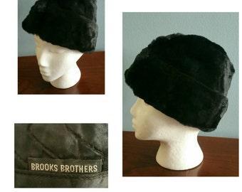1950s Brooks Brothers fur garrison hat