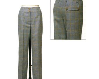 Vogue 8156 Claire Shaeffer Custom Couture Womens Straight-Leg Pants UNCUT Plus Size Womens Sewing Patterns Size 18 20 22 Waist 32 34 37