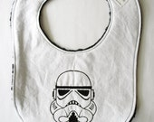 Stormtrooper inspired Baby Bib, Star wars Baby, Embroidered bib, Baby shower Gift Ideas, Baby Gifts