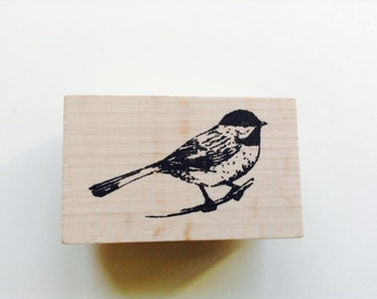 New- for Scrapbooking Rubber Stamping and Paper crafts Wood Mounted Rubber Stamp-- Bird