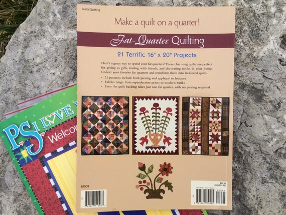 Book Cover Sewing Quarters : Fat quarter quilting soft cover book lori smith sewing