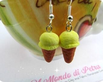 Ice Cream Polymer Clay Earrings