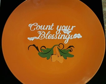 Count your Blessings Plate
