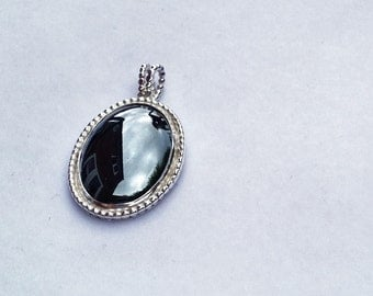 Sterling Silver and Hematite Pendant