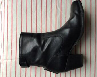 Frye Melissa Back Zip Booties 7.5 Black