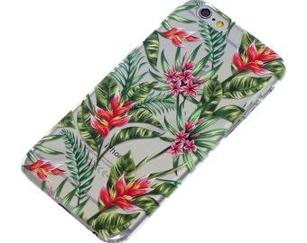 Plumeria Hanalei tropical flowers Phone Case iPhone 6, iPhone 7, iPhone SE, 6 Plus, 7 Plus, 6S, 5, 5C, 5S, Galaxy S6, S7, Note 5, Note 7