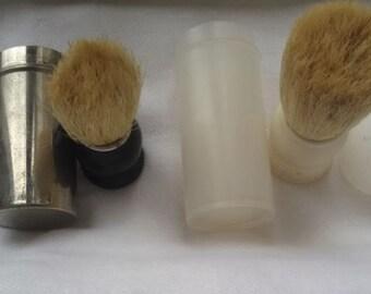 Shaving brushes vintage-trip - containers brushes-talc-aluminum-plastic-shaving soap