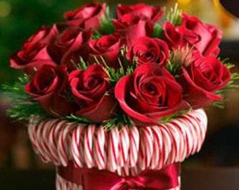 Super Sale!!! Candy Cane Wedding Bouquet ( Set Of 2 )
