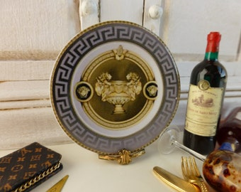 Versace Gala Dollhouse Miniature Plate