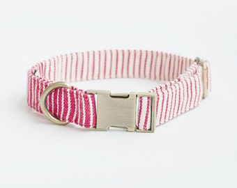 Oh! Basic Collar / Red Nautical Striped