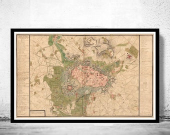 Old Map of Lille France 1717