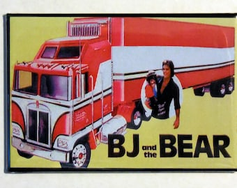 "BJ and the BEAR TV Show 2"" x 3"" Fridge Magnet Art Vintage"