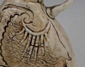 Stamped Porcelain Bud Vase