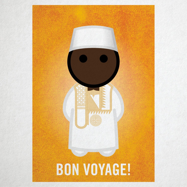 Bon voyage greeting card gc006m malinese marabout bon voyage greeting card gc006m malinese marabout kristyandbryce Image collections