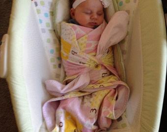 0-3 Month Tie-Style Swaddle Blanket