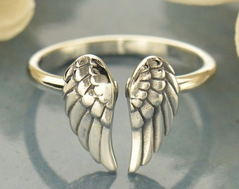 Sterling Silver Adjustable Wing Ring.